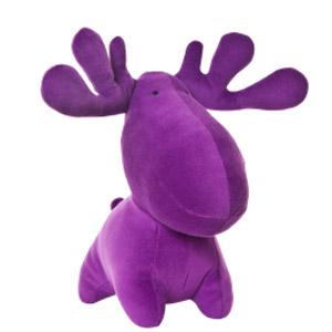 The purple moose mascot