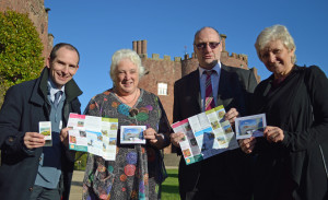 Launching the Show Me Wales Trails initiative are (from left) the Cambrian Railways Partnership's rail development officer Rhydian Mason, MWT's chairman Anne Lloyd-Jones, Arriva Trains Wales' external affairs manager Ben Davies and MWT's chief executive Val Hawkins.