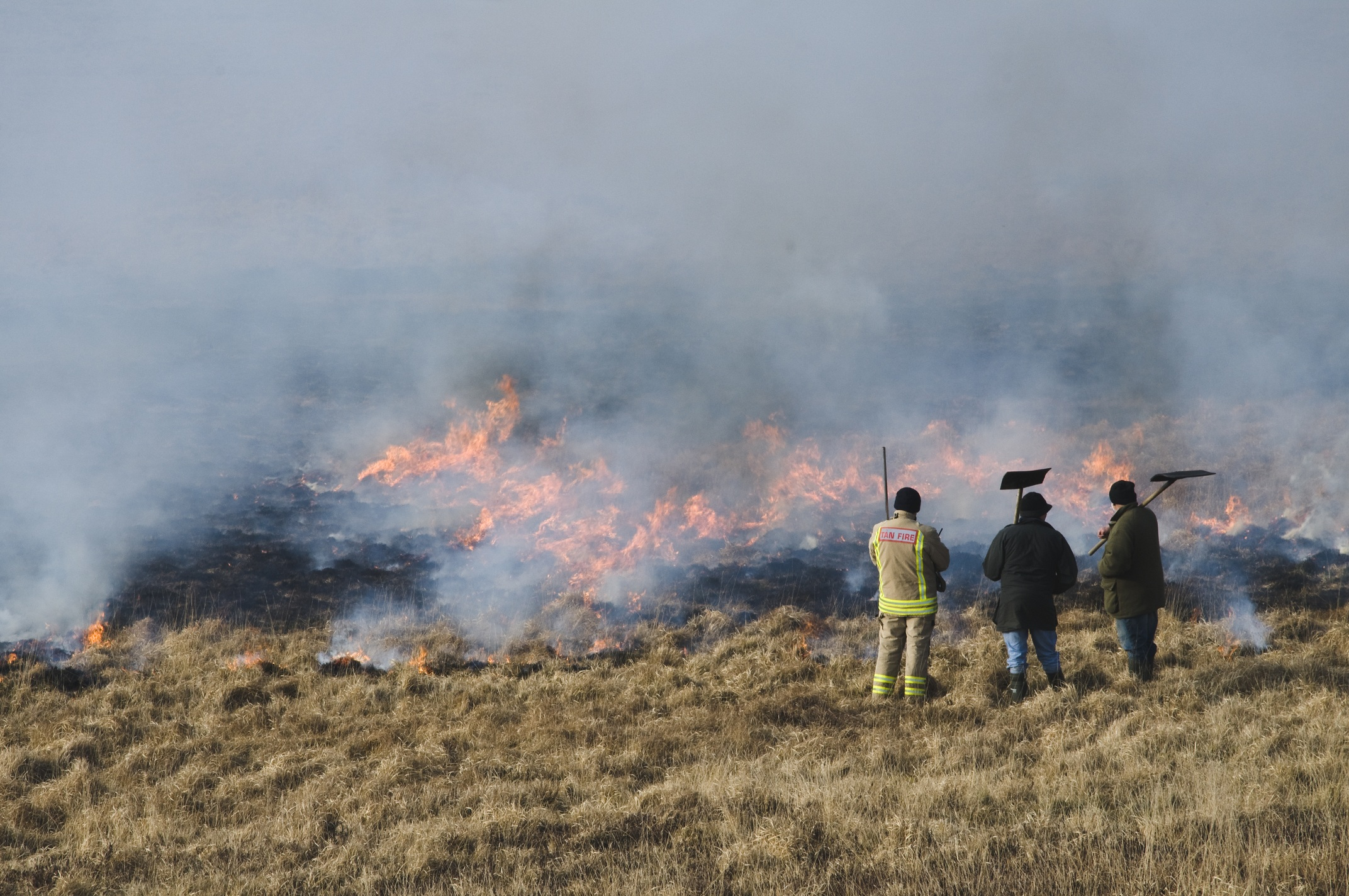 Controlled burning to protect against wildfires