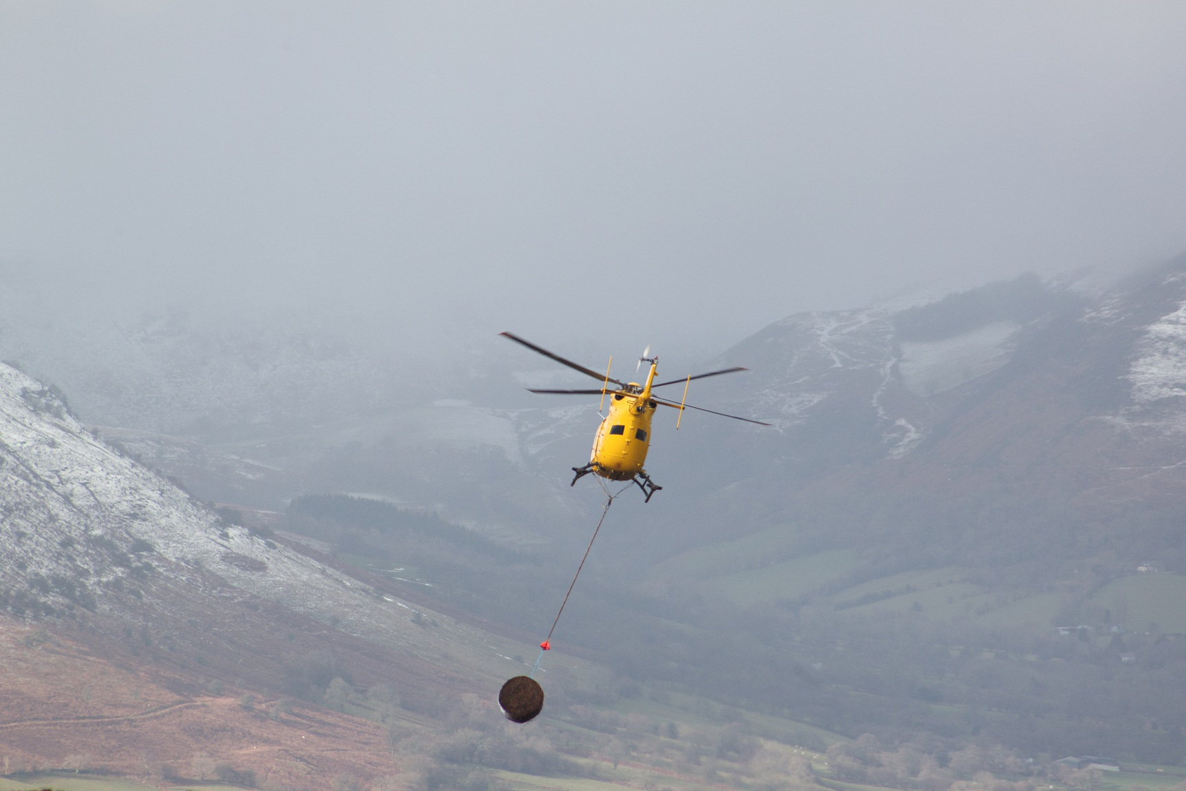 helicopter airlift moorland managment