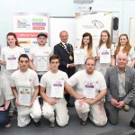 Coleg Sir Gar student Leanne Simmonds is decorated by Dulux