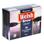 box of welsh brew decaf tea