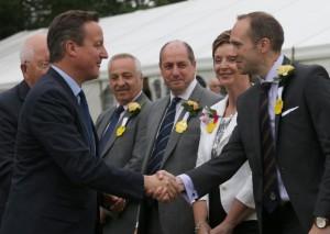 David Cameron meets society officials at Royal Welsh