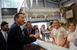 David Cameron meets the team from Welsh Venison  at Royal Welsh