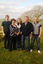 The bennett family honourewd at the Royal Welsh show