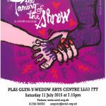 Open air theatre performance at Oriel Plas Glyn Y Weddw