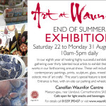 Art at Waunifor has a special feature of textile and fibre arts