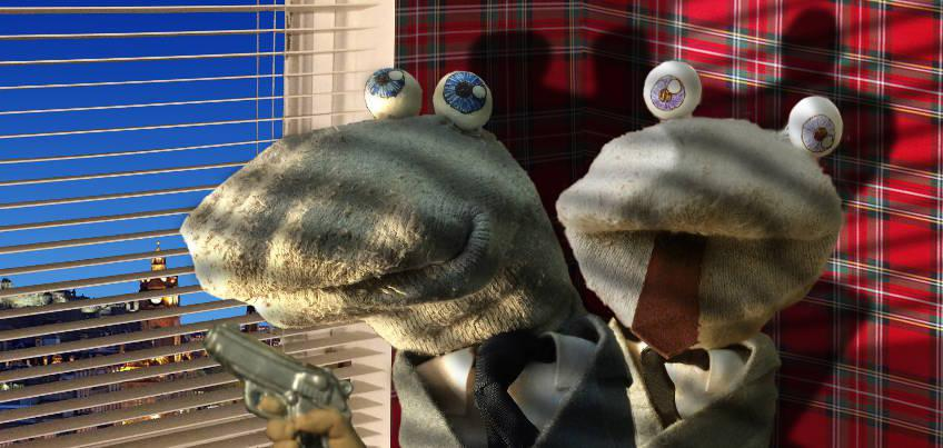 Scottish Falsetto Sock Puppet Theatre mining detectives