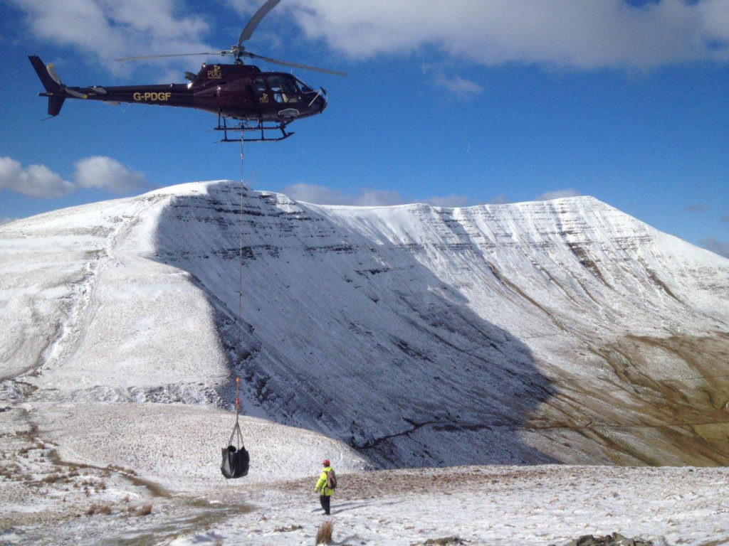Brecon Beacons National Park calls on help from the skies above