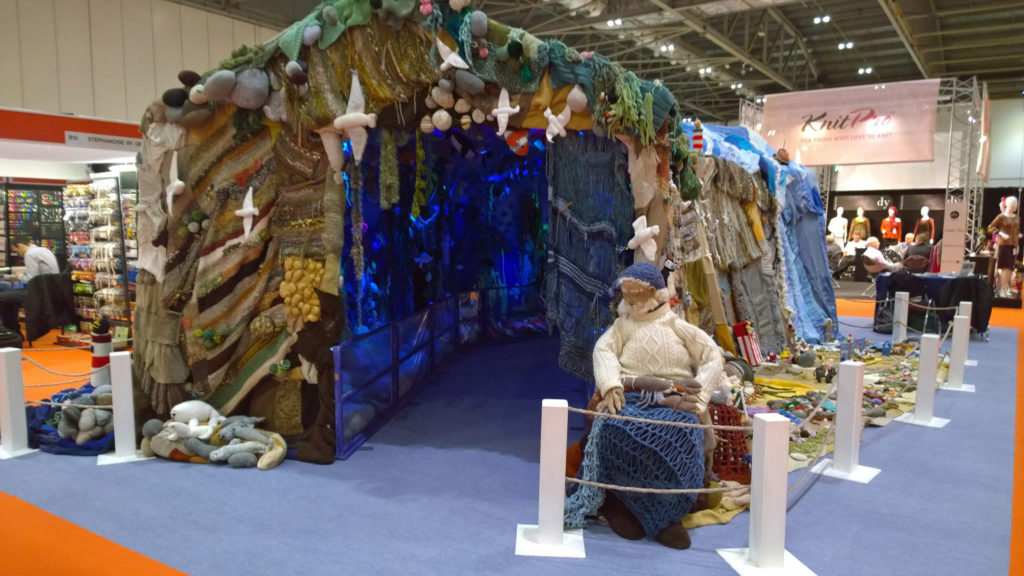 Wonderwool Wales encourages creativity. Above-and-Below-the-Waves