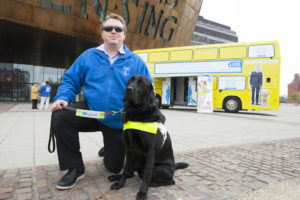 guide dogs cymru at monmouthshire food festival