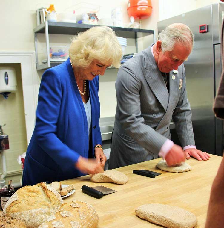 Royal visit at Talgarth Mill and The Bakers' Table