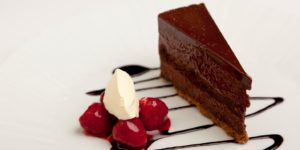 Shaun Hill's chcolate torte at monmouthshire food festival