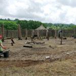Castell Henllys- Unique excavation for roundhouse site