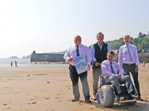 Pembrokeshire coast sand wheelchair